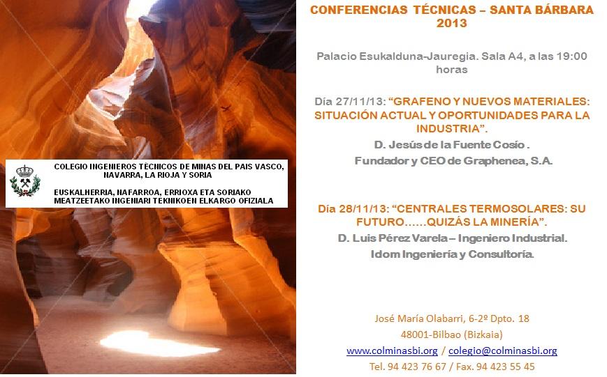 Invitación Conferencias Santa Bárbara 2013